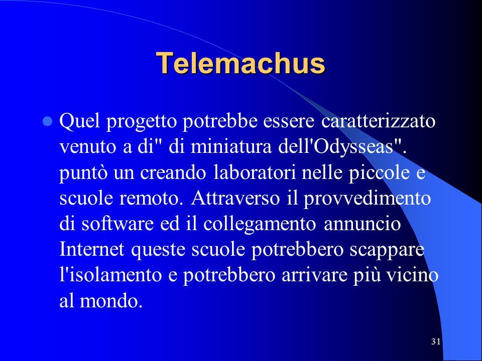 31 Telemachus Quel progetto potrebbe essere caratterizzato venuto a di di miniatura dell Odysseas .