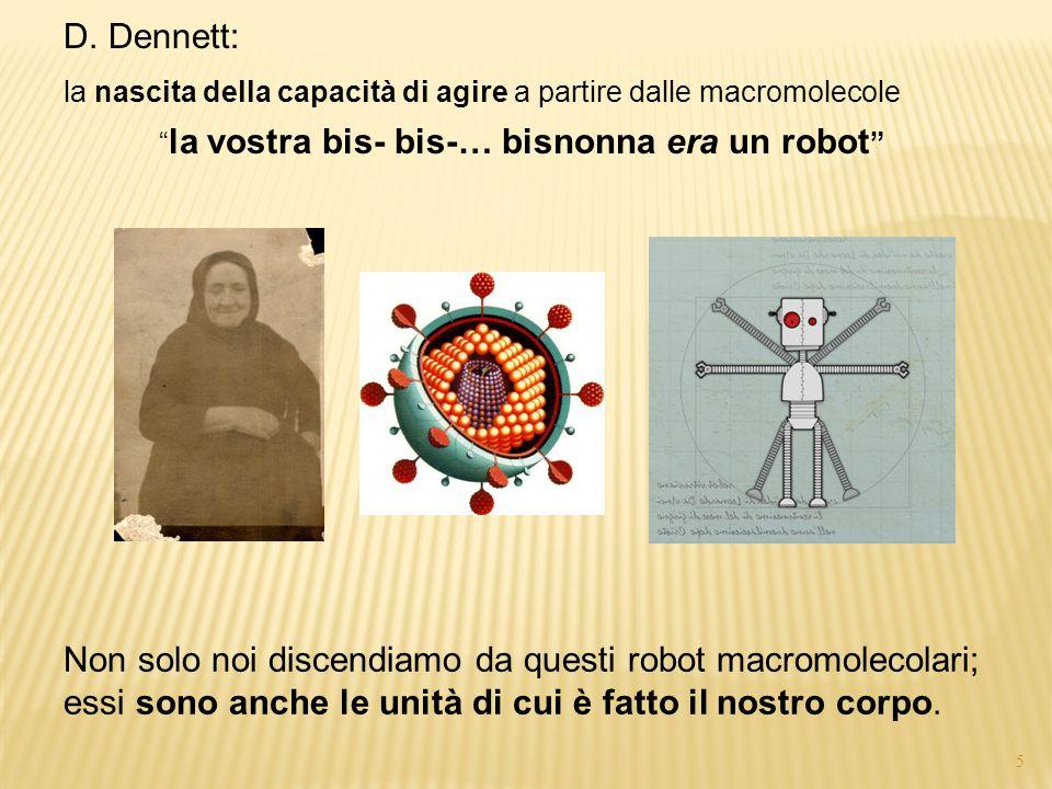4 D. Dennett: la nascita della capacità di agire a partire dalle macromolecole  un vocabolario proprio della capacità di azione, qui usato impropriam