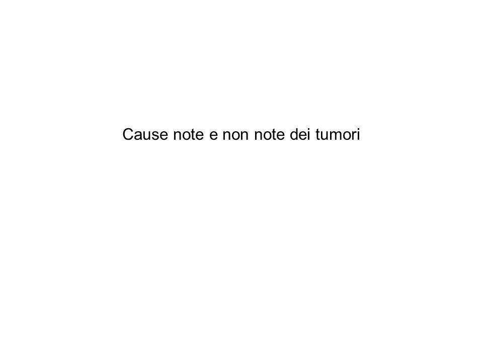 Cause note e non note dei tumori