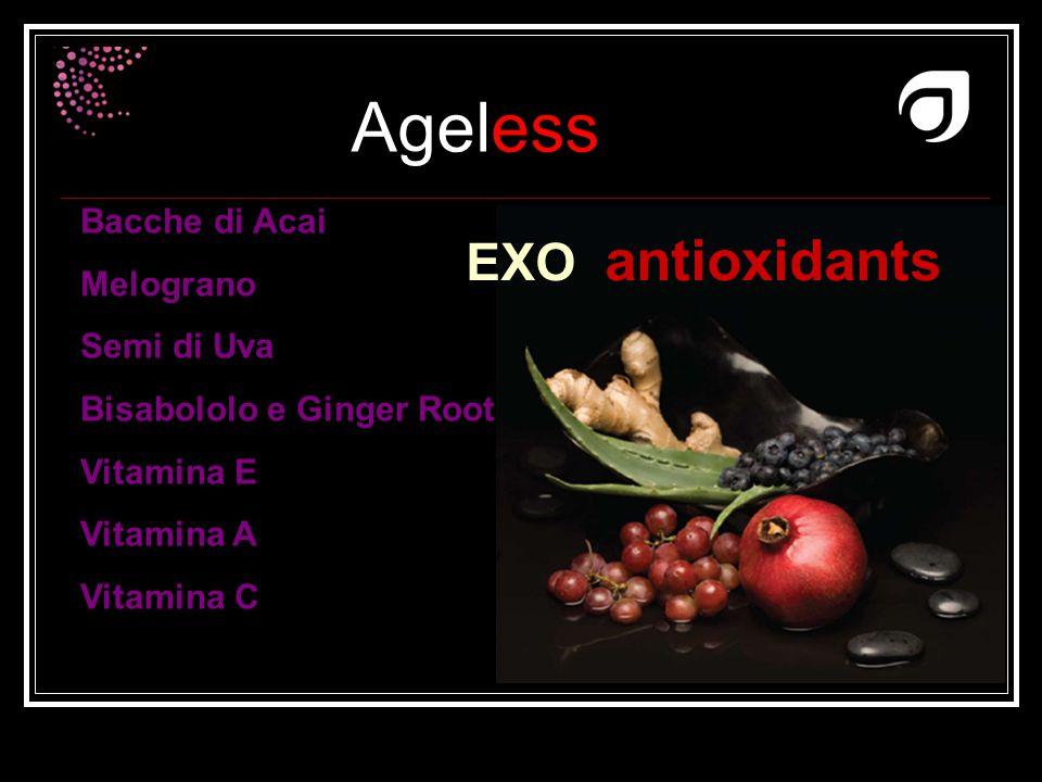 Ageless Dr W.Amzallag Bacche di Acai Melograno Semi di Uva Bisabololo e Ginger Root Vitamina E Vitamina A Vitamina C EXO antioxidants