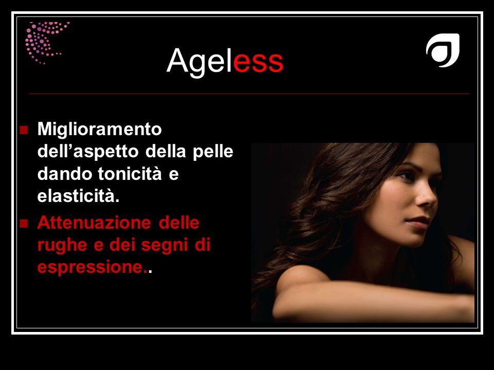 Ageless Dr W.Amzallag Miglioramento dell'aspetto della pelle dando tonicità e elasticità. Attenuazione delle rughe e dei segni di espressione..