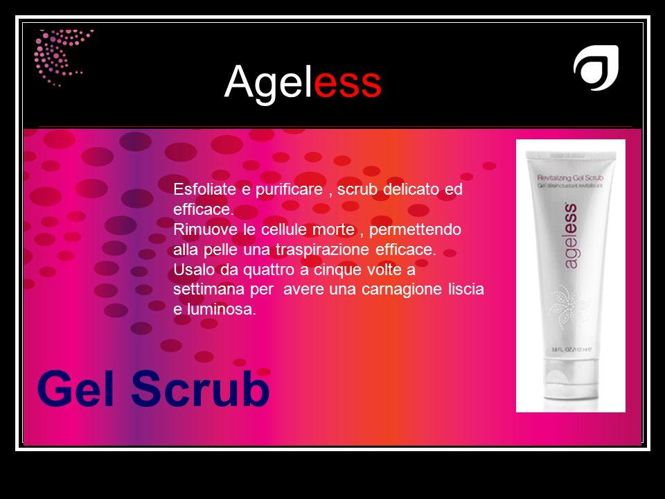 Ageless Dr W.Amzallag Gel Scrub Esfoliate e purificare, scrub delicato ed efficace. Rimuove le cellule morte, permettendo alla pelle una traspirazione