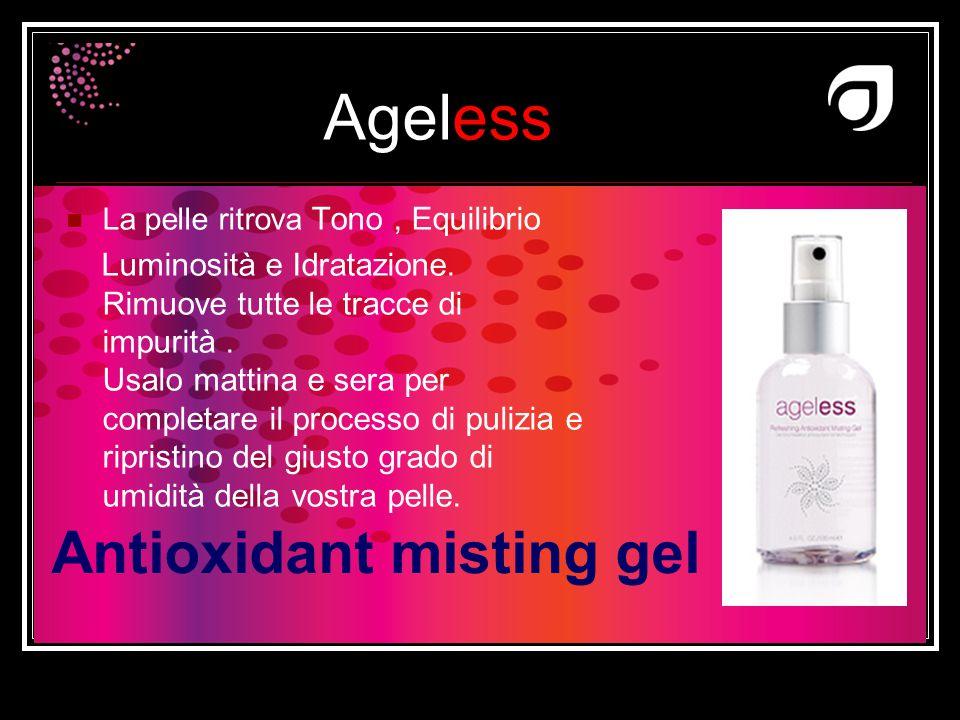 Ageless Dr W.Amzallag Antioxidant misting gel La pelle ritrova Tono, Equilibrio Luminosità e Idratazione. Rimuove tutte le tracce di impurità. Usalo m