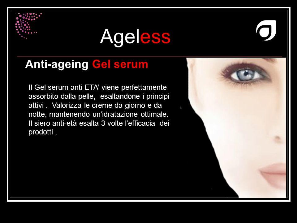 Ageless Dr W.Amzallag Anti-ageing Gel serum Il Gel serum anti ETA' viene perfettamente assorbito dalla pelle, esaltandone i principi attivi. Valorizza