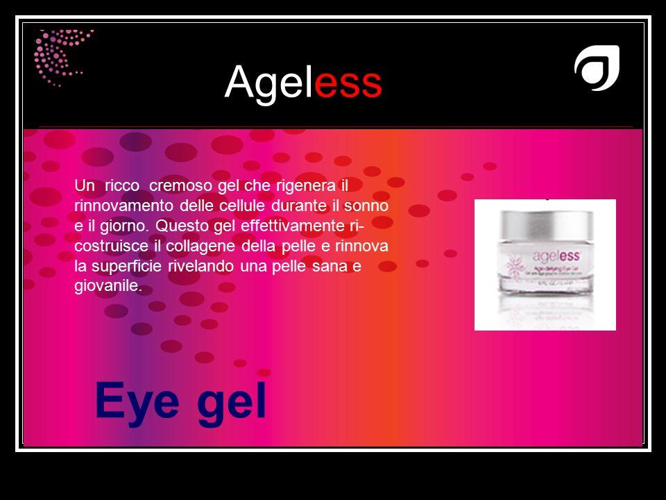 Ageless Dr W.Amzallag Eye gel Un ricco cremoso gel che rigenera il rinnovamento delle cellule durante il sonno e il giorno. Questo gel effettivamente