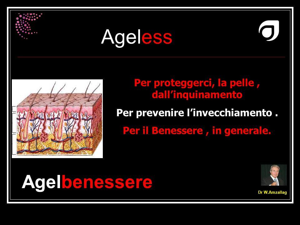 Ageless Dr W.Amzallag Per proteggerci, la pelle, dall'inquinamento Per prevenire l'invecchiamento. Per il Benessere, in generale. Agelbenessere