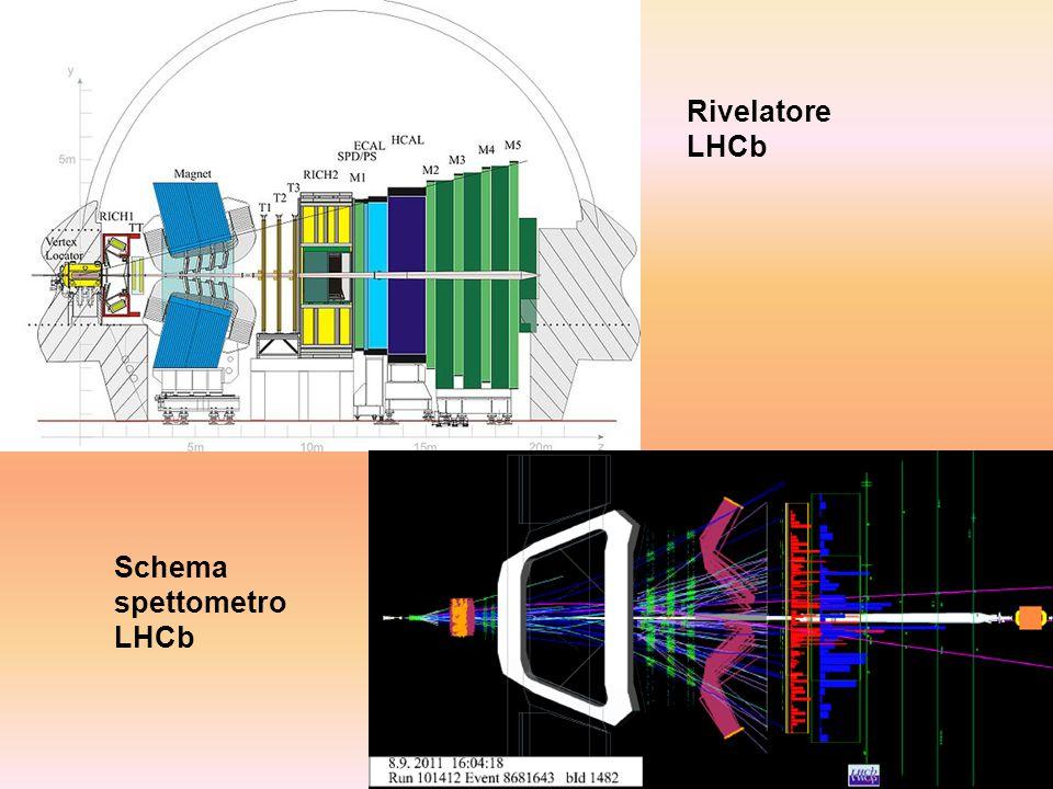 Rivelatore LHCb Schema spettometro LHCb