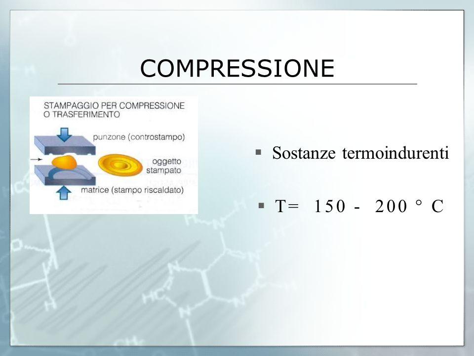  Sostanze termoindurenti  T= 150 - 200 ° C