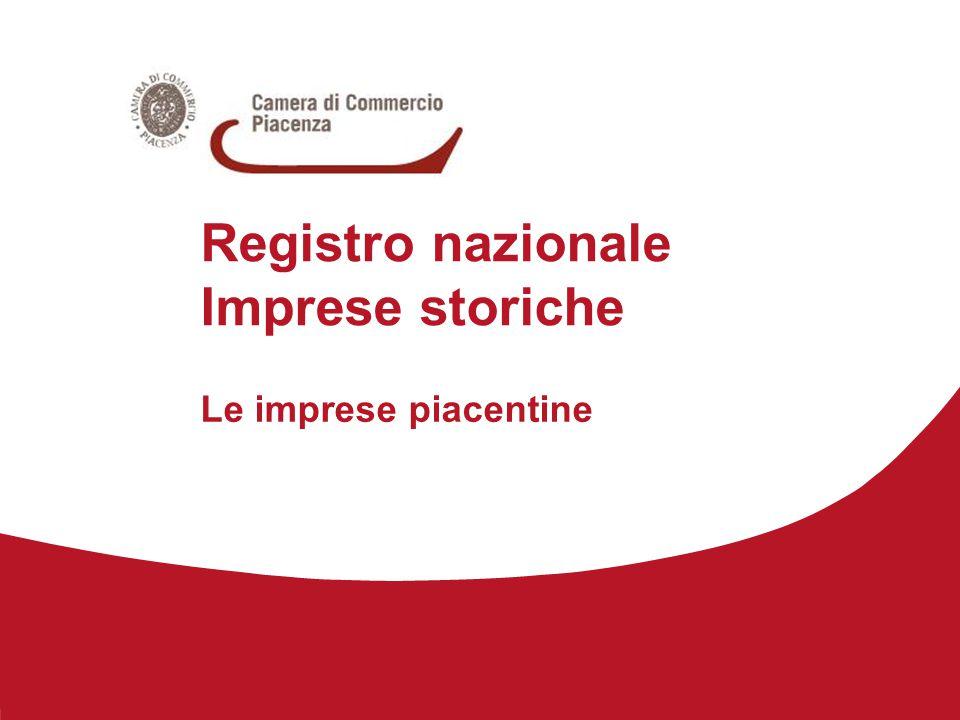 Registro nazionale Imprese storiche Le imprese piacentine