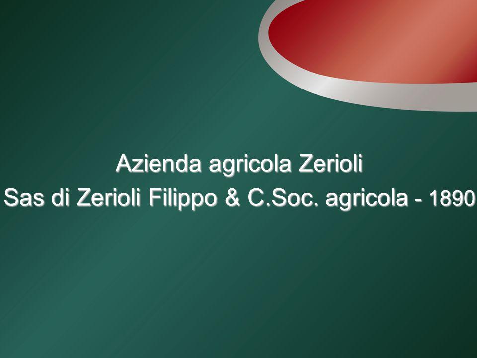 Azienda agricola Zerioli Sas di Zerioli Filippo & C.Soc. agricola - 1890