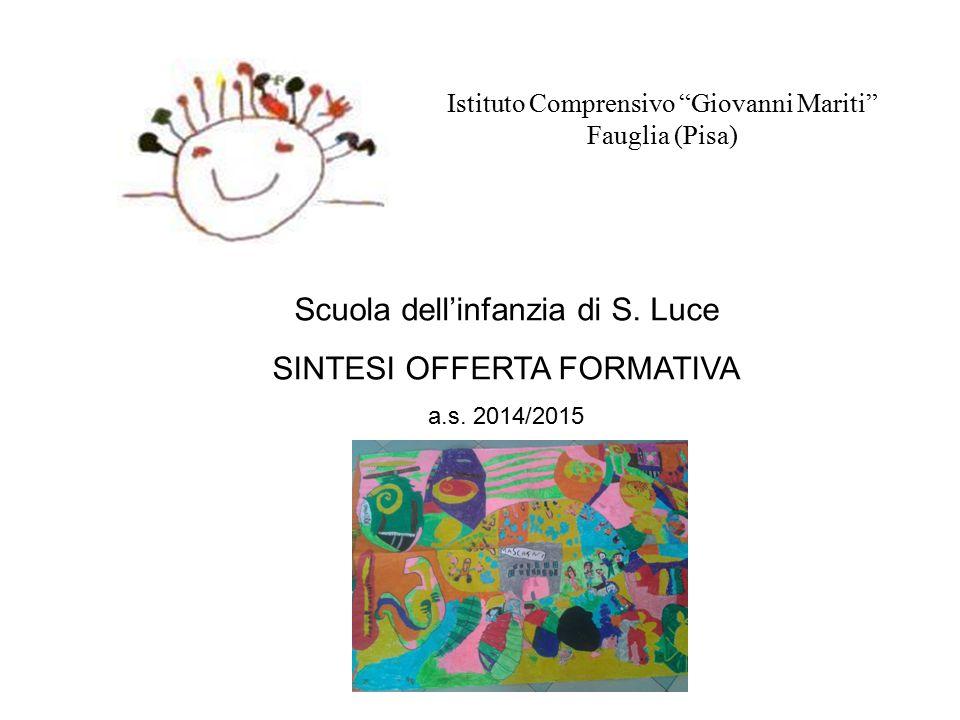 """Istituto Comprensivo """"Giovanni Mariti"""" Fauglia (Pisa) Scuola dell'infanzia di S. Luce SINTESI OFFERTA FORMATIVA a.s. 2014/2015 INSERIRE IMMAGINE"""
