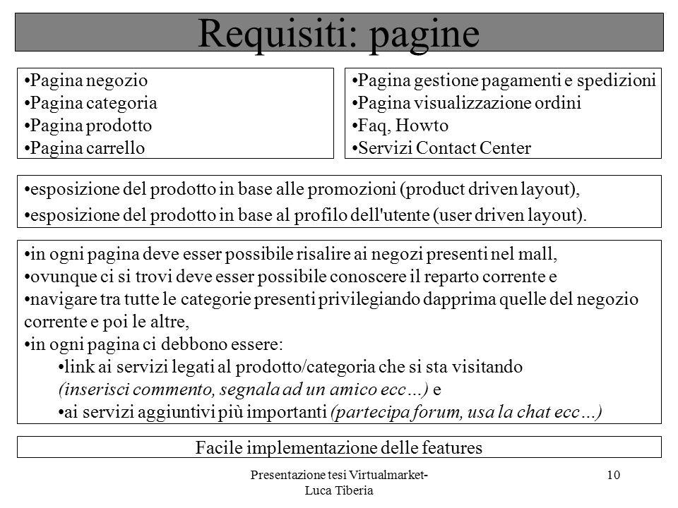 Presentazione tesi Virtualmarket- Luca Tiberia 10 esposizione del prodotto in base alle promozioni (product driven layout), esposizione del prodotto i