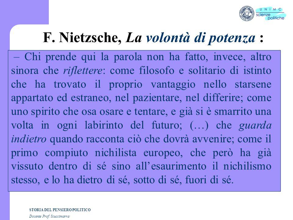STORIA DEL PENSIERO POLITICO Docente Prof.Scuccimarra F.