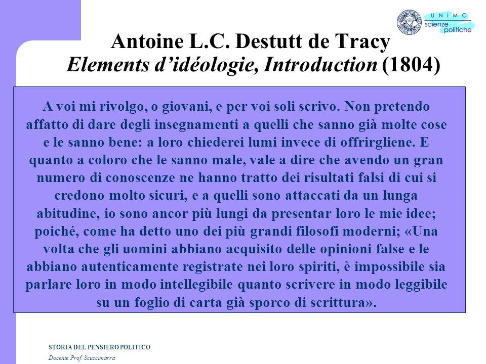 STORIA DEL PENSIERO POLITICO Docente Prof.Scuccimarra G.
