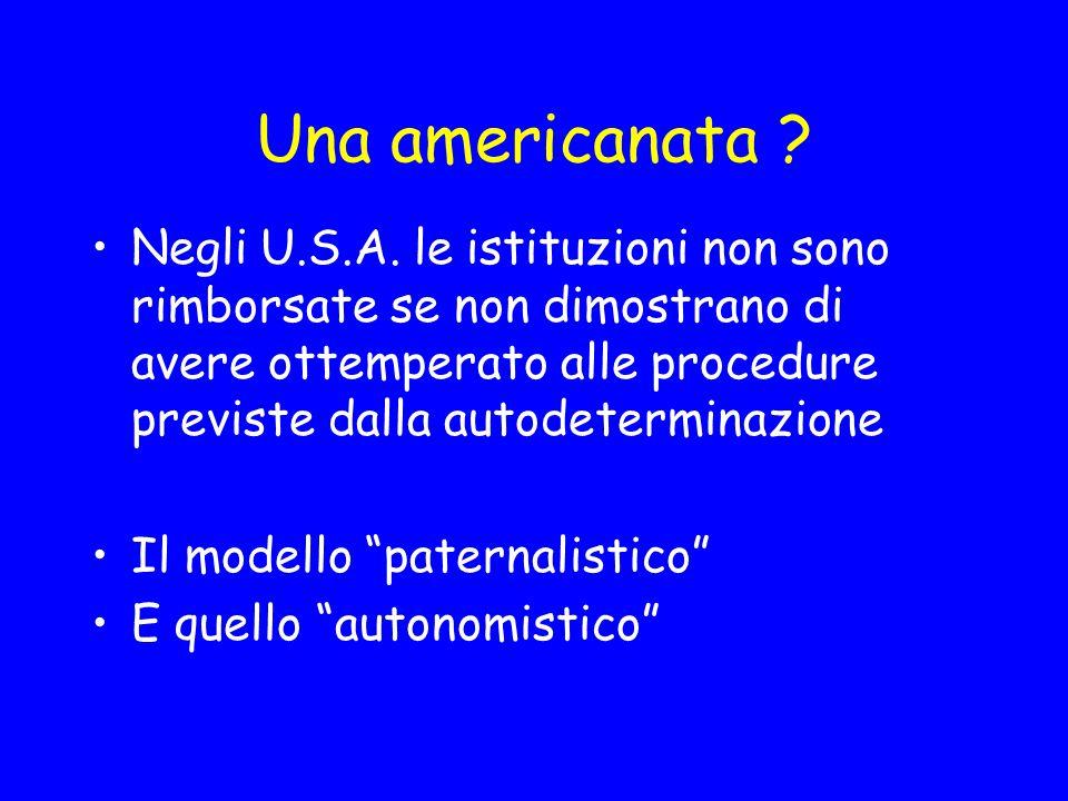 Una americanata .Negli U.S.A.