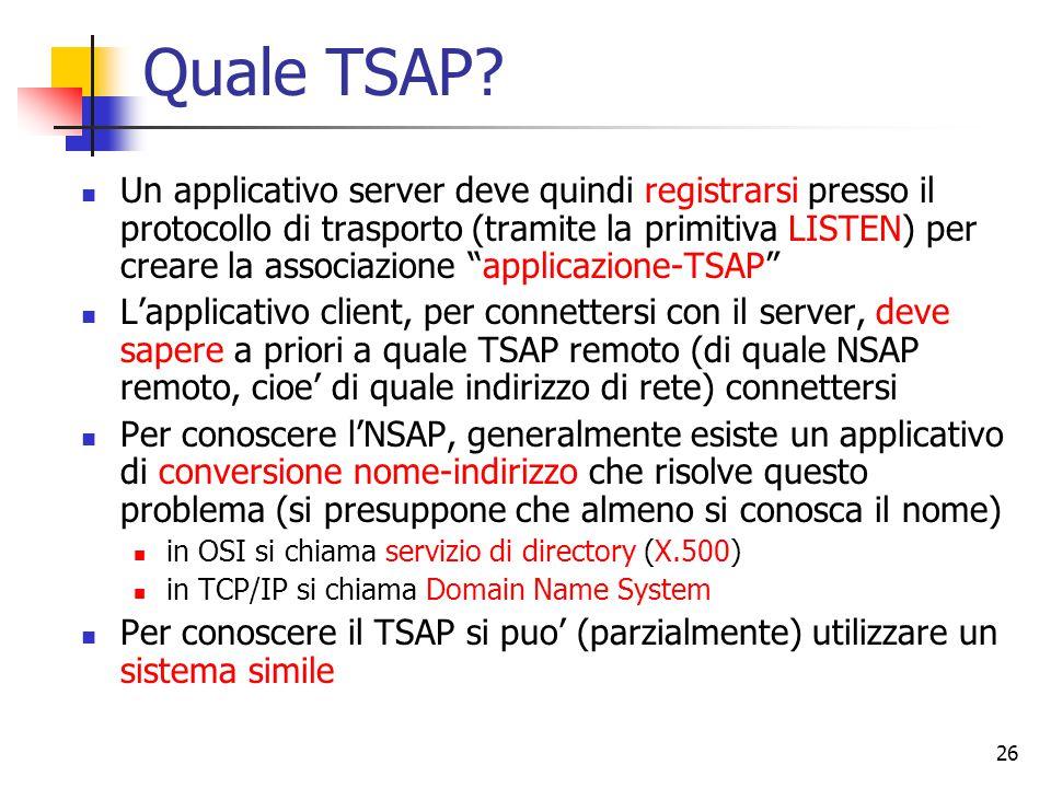 26 Quale TSAP.