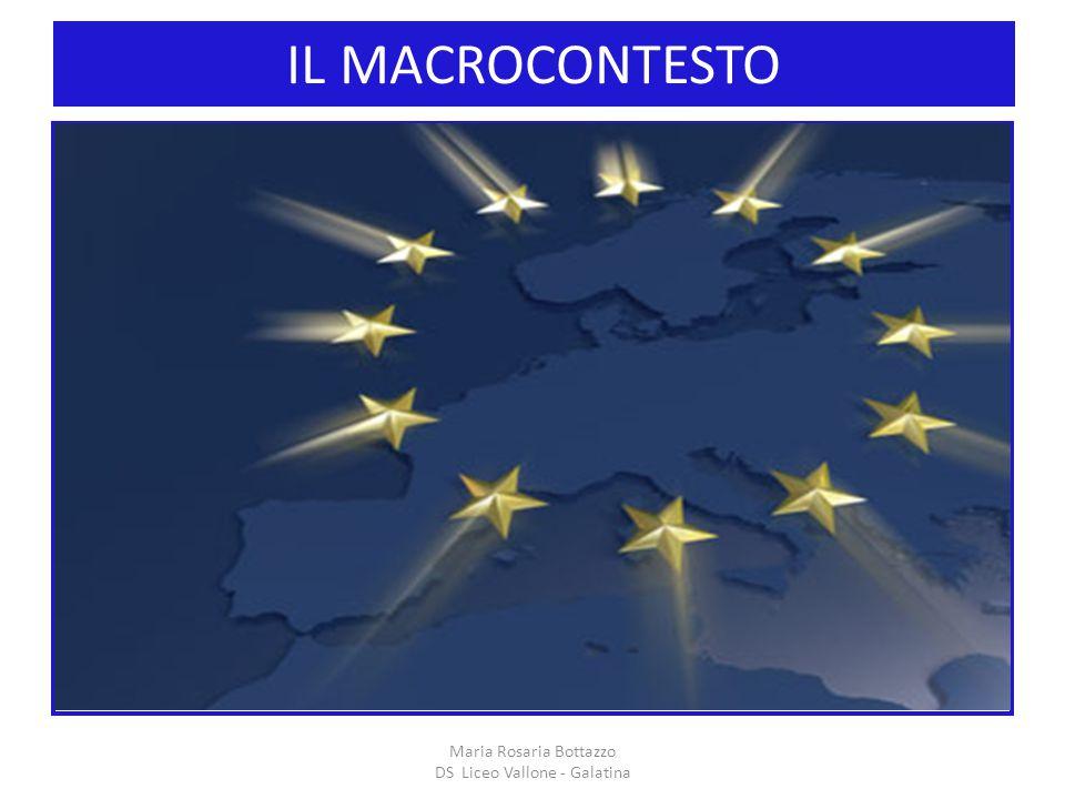 IL MACROCONTESTO I Maria Rosaria Bottazzo DS Liceo Vallone - Galatina