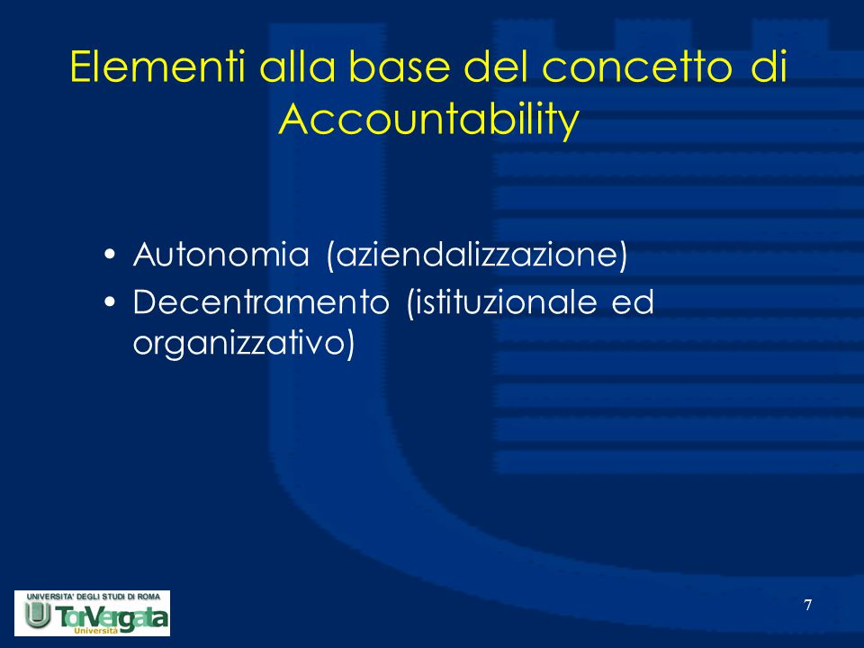 8 Autonomia (1/2) Non è sinonimo di isolamento; Condizione che presuppone che l'azienda si ponga in rapporto con l'ambiente che la circonda, potendo comunque assumere decisioni in modo discrezionale ed indipendente da fattori esterni.