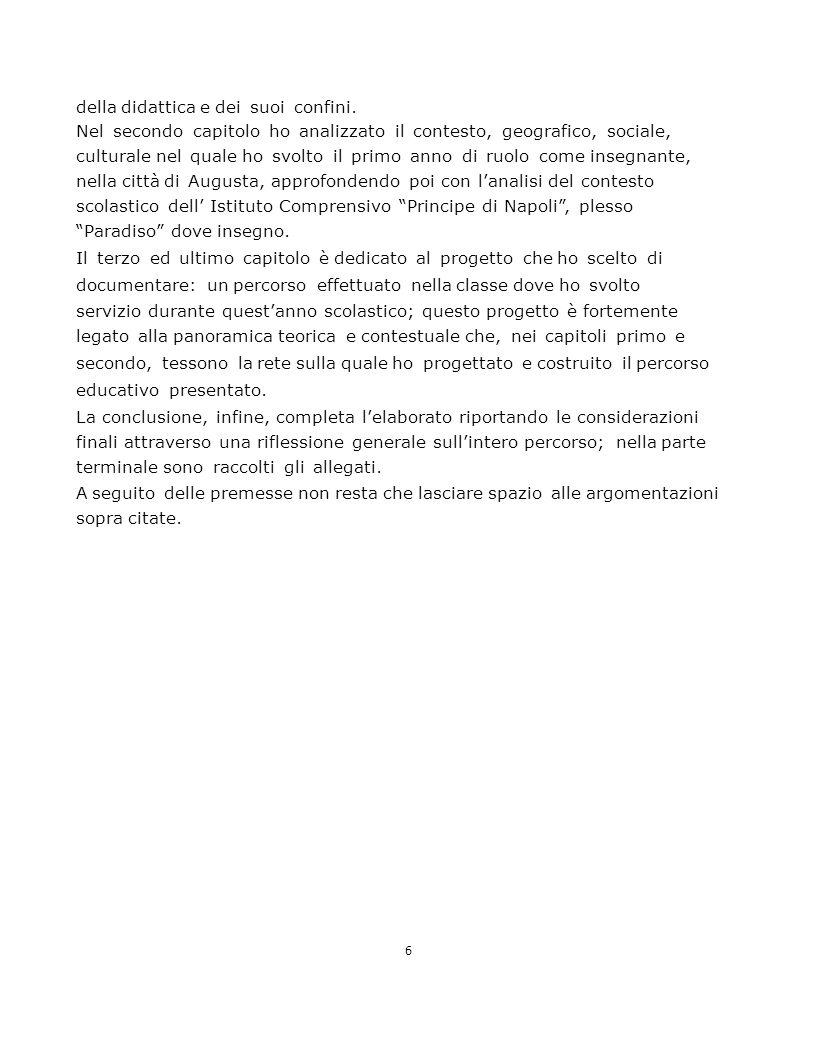 7 Capitolo primo Riflessione pedagogica tra complessità e nuovi volti della scuola 1.1 Premessa storico sociologica sulla nascita dell'infanzia Il mutamento sociale che si è verificato negli ultimi decenni ha determinato un forte cambiamento dell'infanzia dal punto di vista ideologico, anagrafico, esistenziale.