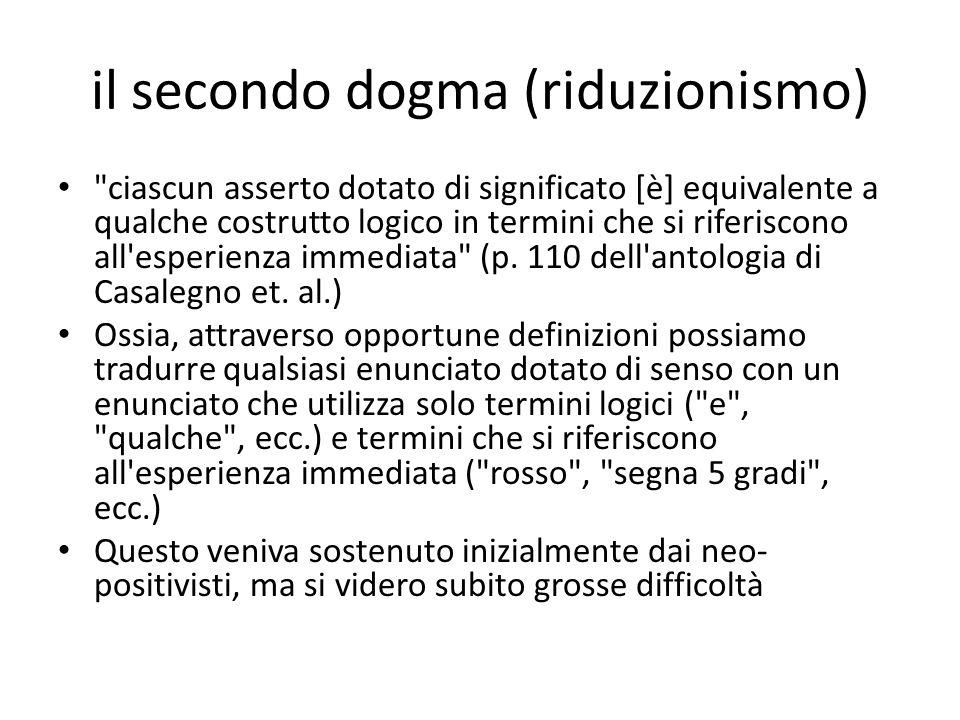 il secondo dogma (riduzionismo)