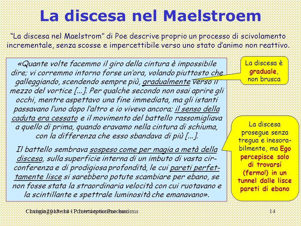 """Changing patterns 11: Interception mechanisms La discesa nel Maelstroem """"La discesa nel Maelstrom"""" di Poe descrive proprio un processo di scivolamento"""