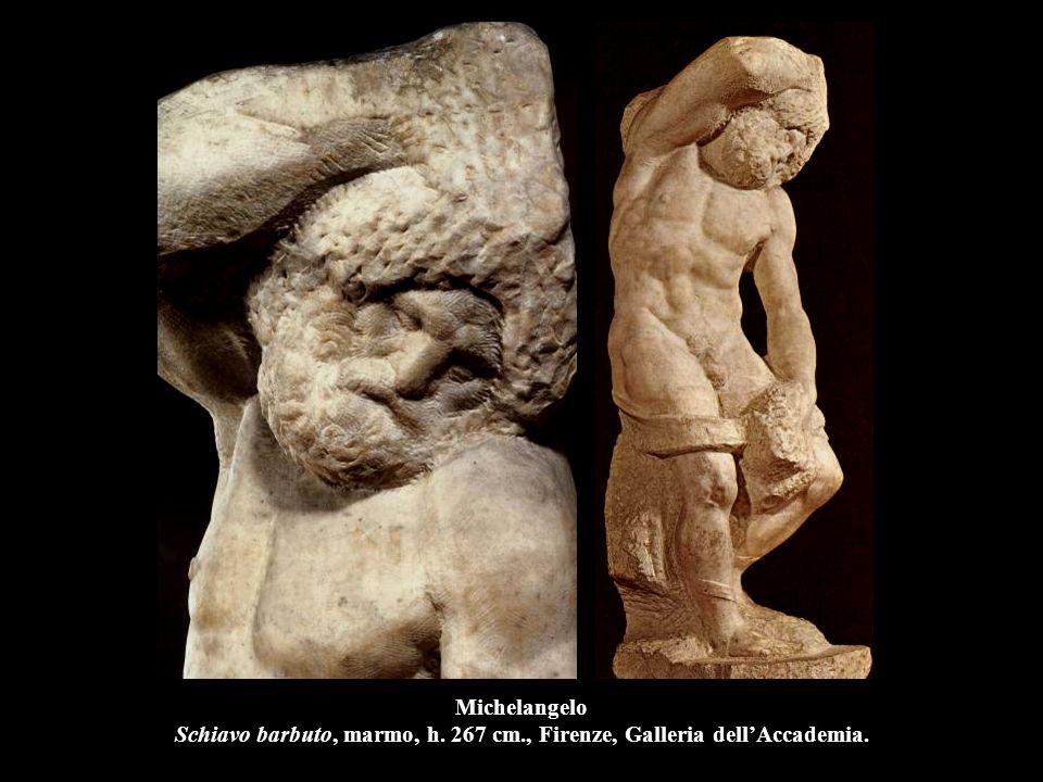 Michelangelo Schiavo barbuto, marmo, h. 267 cm., Firenze, Galleria dell'Accademia.