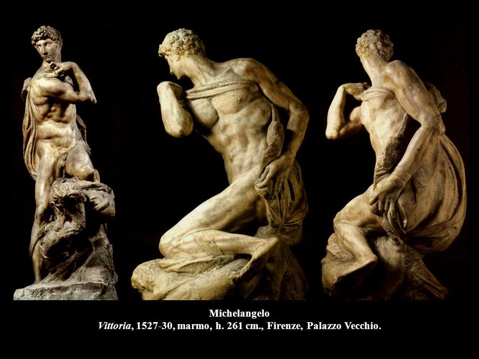 Michelangelo Vittoria, 1527-30, marmo, h. 261 cm., Firenze, Palazzo Vecchio.