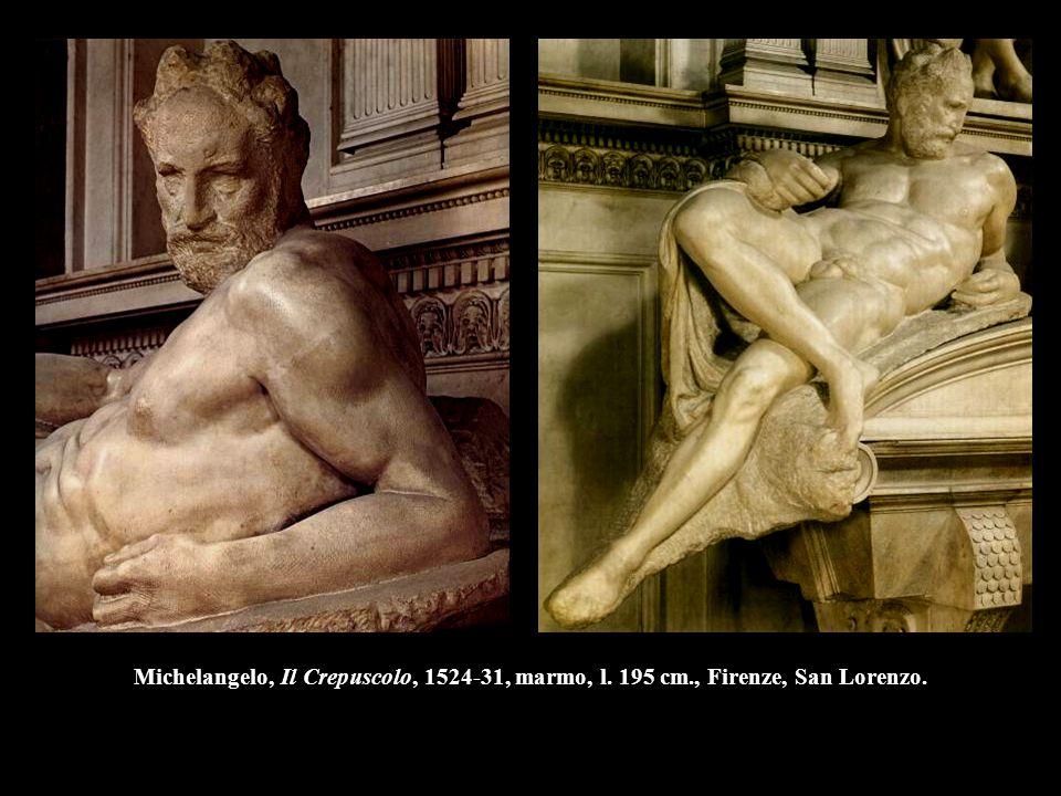 Michelangelo, Il Crepuscolo, 1524-31, marmo, l. 195 cm., Firenze, San Lorenzo.