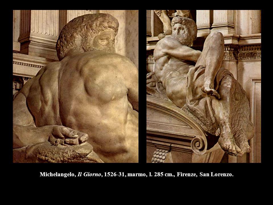 Michelangelo, Il Giorno, 1526-31, marmo, l. 285 cm., Firenze, San Lorenzo.