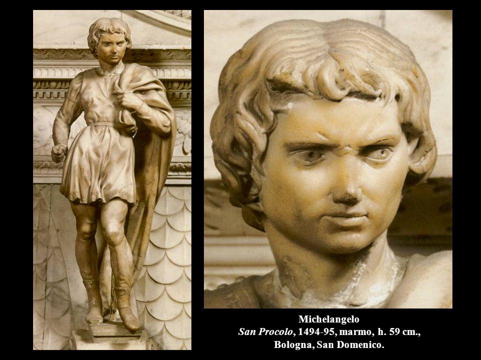 Michelangelo San Procolo, 1494-95, marmo, h. 59 cm., Bologna, San Domenico.