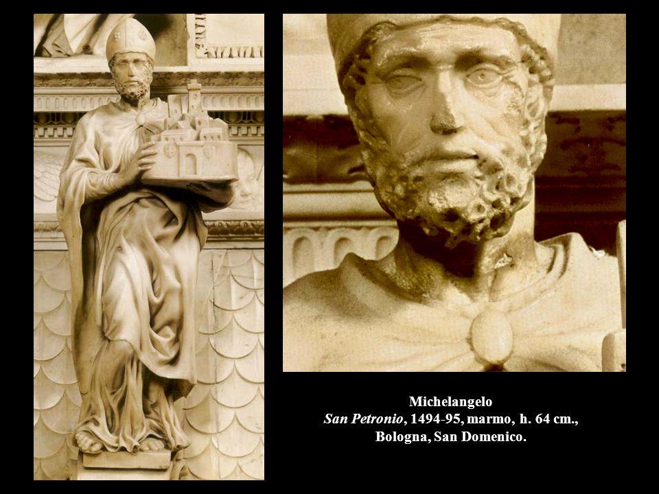 Michelangelo San Petronio, 1494-95, marmo, h. 64 cm., Bologna, San Domenico.