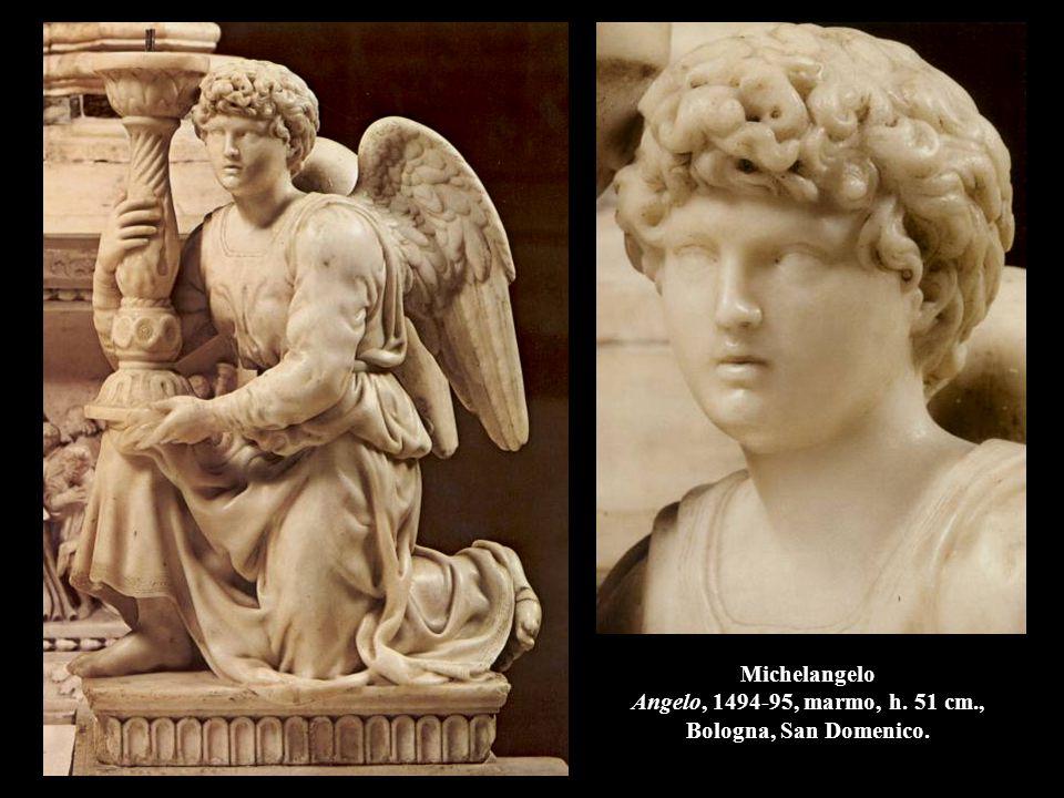 Michelangelo Angelo, 1494-95, marmo, h. 51 cm., Bologna, San Domenico.