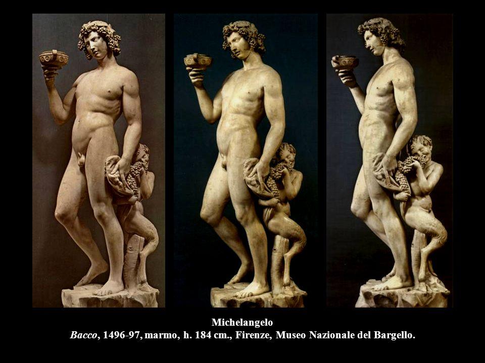 Michelangelo Bacco, 1496-97, marmo, h. 184 cm., Firenze, Museo Nazionale del Bargello.