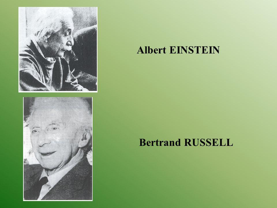 Albert EINSTEIN Bertrand RUSSELL