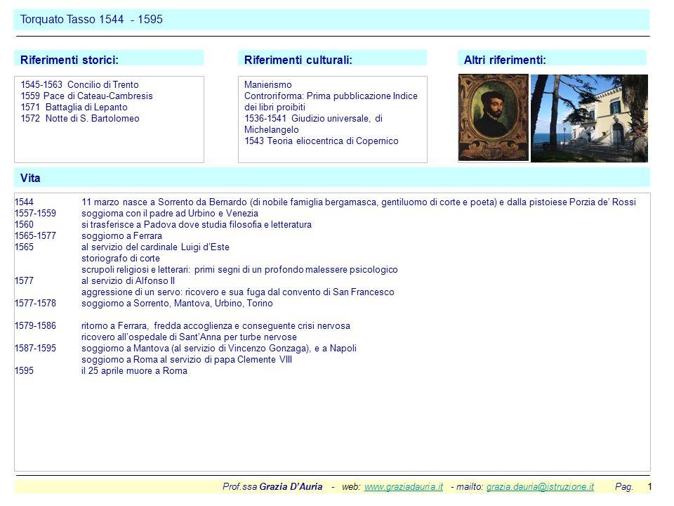 Prof.ssa Grazia D'Auria - web: www.graziadauria.it - mailto: grazia.dauria@istruzione.it Pag. 1www.graziadauria.itgrazia.dauria@istruzione.it Torquato