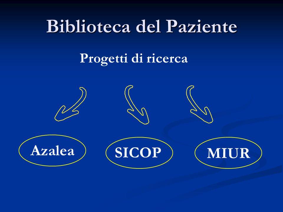 Biblioteca del Paziente Progetti di ricerca Azalea SICOP MIUR