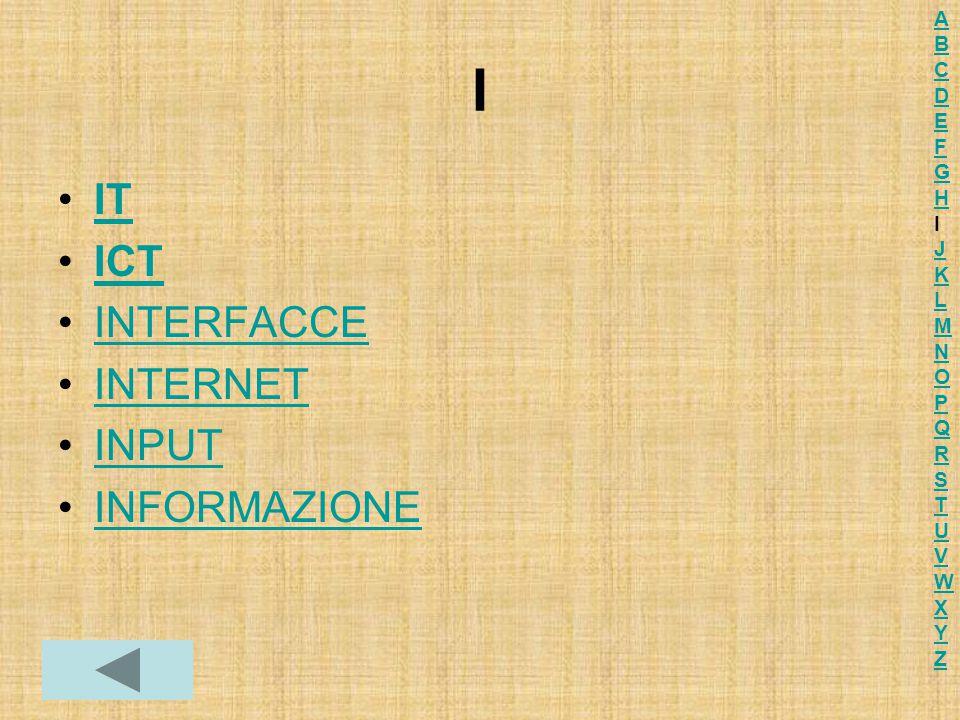 I IT ICT INTERFACCE INTERNET INPUT INFORMAZIONE ABCDEFGHIJKLMNOPQRSTUVWXYZABCDEFGHIJKLMNOPQRSTUVWXYZ