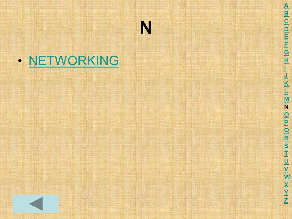 N NETWORKING ABCDEFGHIJKLMNOPQRSTUVWXYZABCDEFGHIJKLMNOPQRSTUVWXYZ