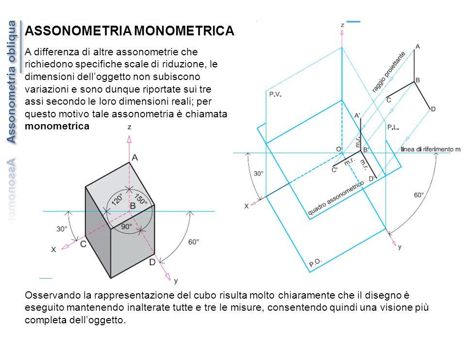 A differenza di altre assonometrie che richiedono specifiche scale di riduzione, le dimensioni dell'oggetto non subiscono variazioni e sono dunque rip