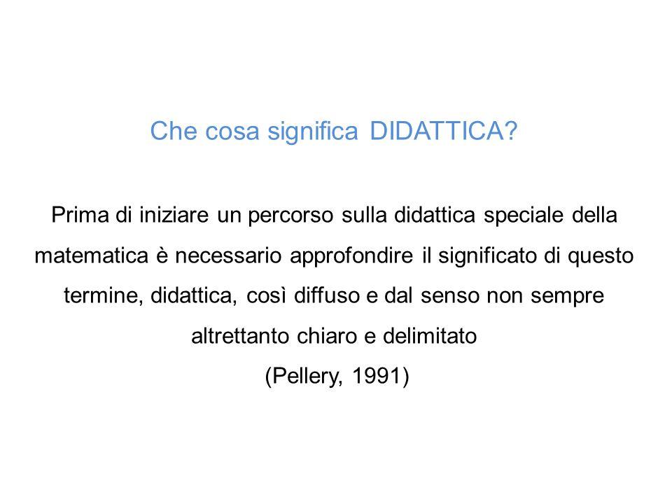 Didattica speciale delle discipline: MATEMATICA Quale matematica per l alunno disabile.