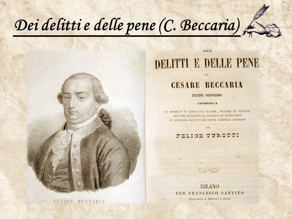 Dei delitti e delle pene (C. Beccaria)
