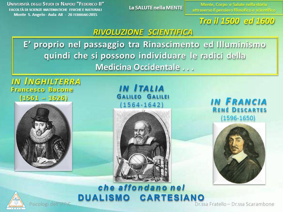 E' proprio nel passaggio tra Rinascimento ed Illuminismo quindi che si possono individuare le radici della Medicina Occidentale... IN I NGHILTERRA RIV