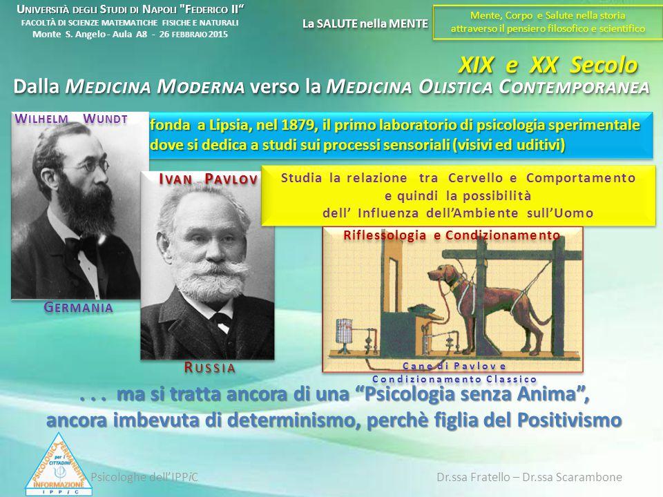 fonda a Lipsia, nel 1879, il primo laboratorio di psicologia sperimentale dove si dedica a studi sui processi sensoriali (visivi ed uditivi) W ILHELM
