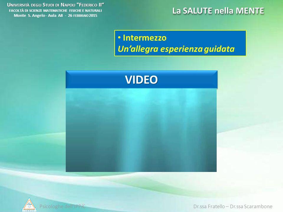 Psicologhe dell'IPPiC Dr.ssa Fratello – Dr.ssa Scarambone U NIVERSITÀ DEGLI S TUDI DI N APOLI
