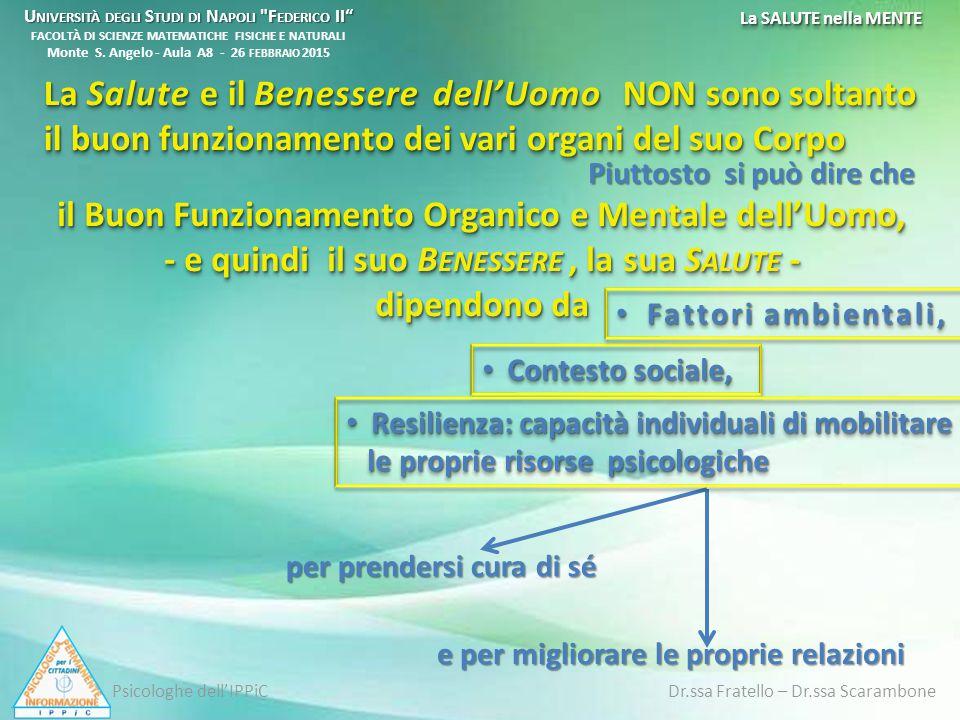 Ippocrate valorizza il dialogo tra medico e paziente Codice Etico per i Medici Stabilisce un vero e proprio Codice Etico per i Medici ______________________________________________________ IL G IURAMENTO DI I PPOCRATE ______________________________________________________ Tuttora è in vigore per i Medici, con i necessari adattamenti alla mutata epoca storica, IL G IURAMENTO DI I PPOCRATE Il giuramento di Ippocrate da un manoscritto bizantino dell XI secolo conservato alla Biblioteca Vaticana Psicologhe dell'IPPiC Dr.ssa Fratello – Dr.ssa Scarambone Mente, Corpo e Salute nella storia attraverso il pensiero filosofico e scientifico La SALUTE nella MENTE U NIVERSITÀ DEGLI S TUDI DI N APOLI F EDERICO II U NIVERSITÀ DEGLI S TUDI DI N APOLI F EDERICO II FACOLTÀ DI SCIENZE MATEMATICHE FISICHE E NATURALI Monte S.