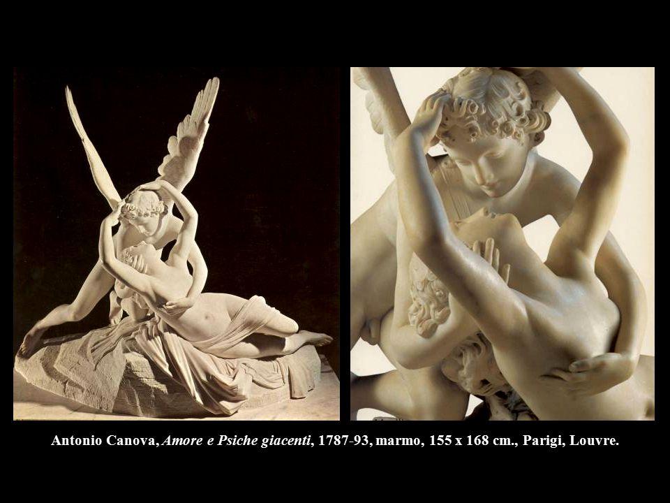 Antonio Canova, Amore e Psiche giacenti, 1787-93, marmo, 155 x 168 cm., Parigi, Louvre.