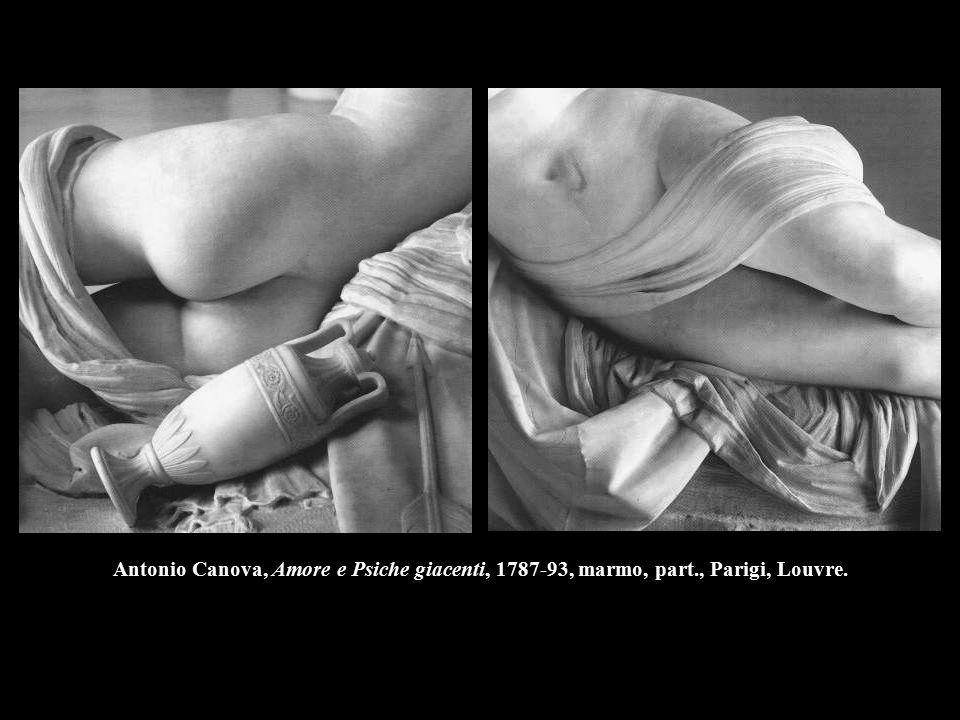Antonio Canova, Amore e Psiche giacenti, 1787-93, marmo, part., Parigi, Louvre.