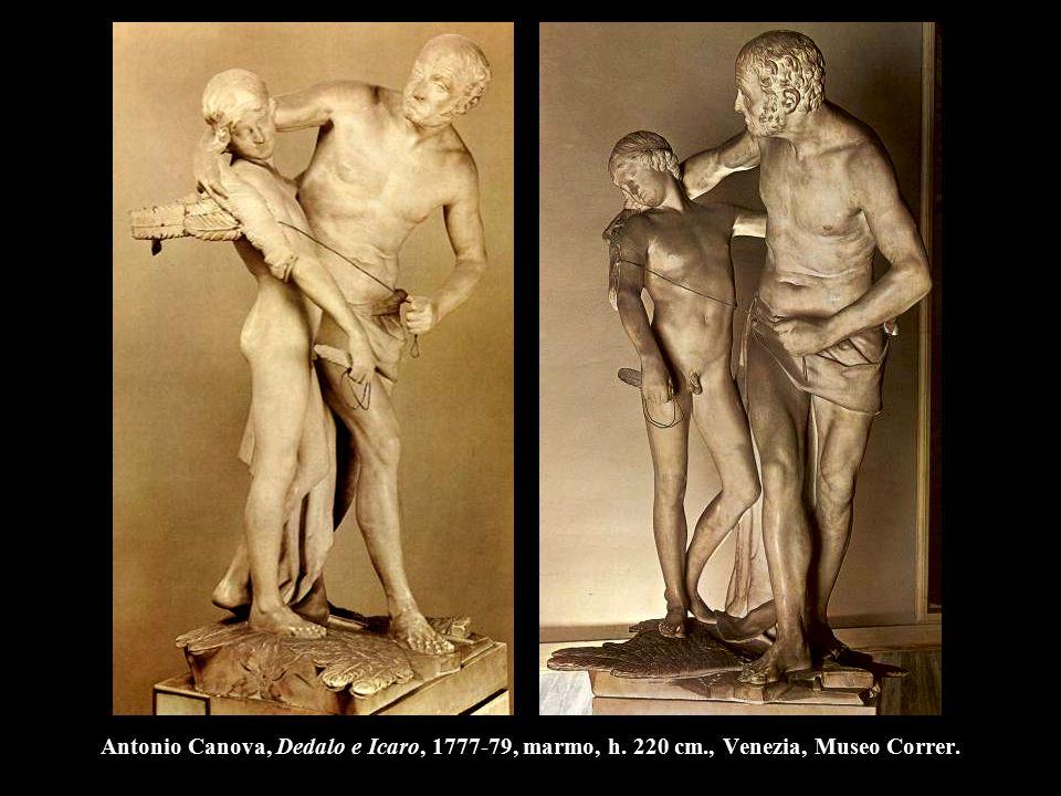 Antonio Canova, Dedalo e Icaro, 1777-79, marmo, h. 220 cm., Venezia, Museo Correr.