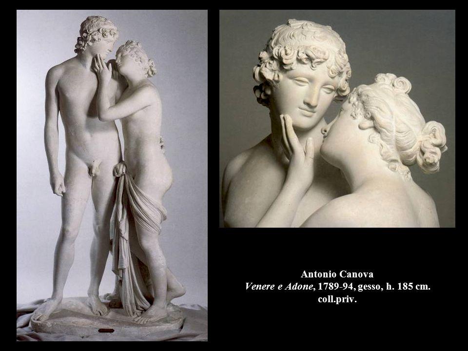 Antonio Canova Venere e Adone, 1789-94, gesso, h. 185 cm. coll.priv.