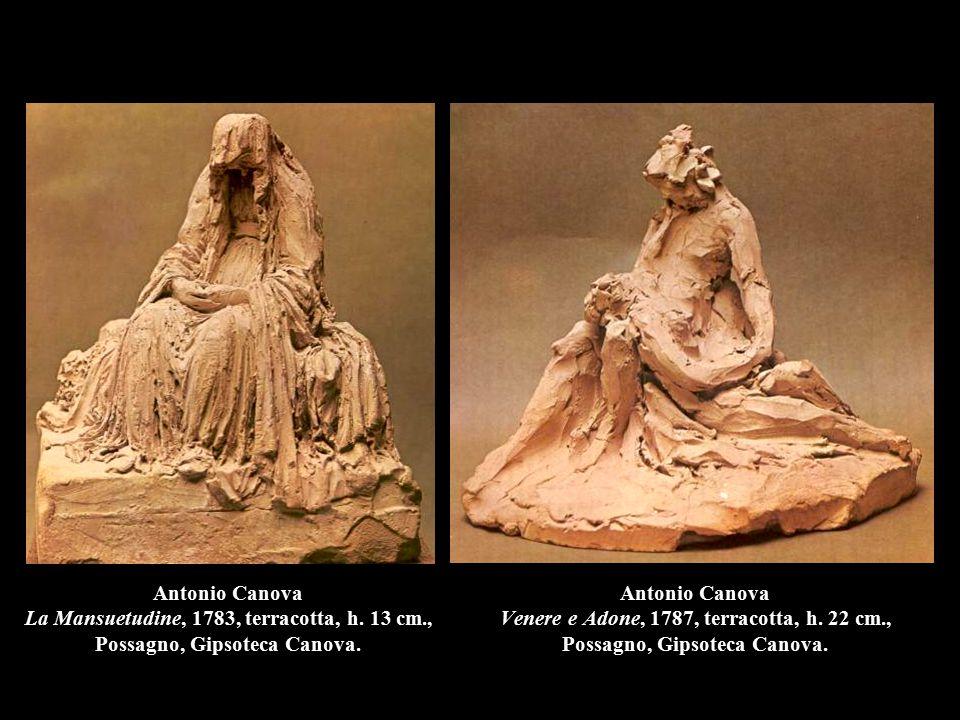 Antonio Canova Venere e Adone, 1787, terracotta, h. 22 cm., Possagno, Gipsoteca Canova. Antonio Canova La Mansuetudine, 1783, terracotta, h. 13 cm., P